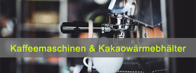 Kaffeemaschinen und Kakaowärmebehälter